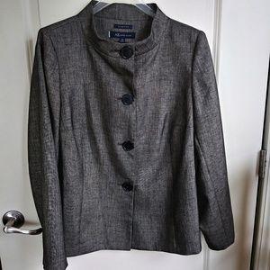 Anne Klein Business High Round Collar Blazer